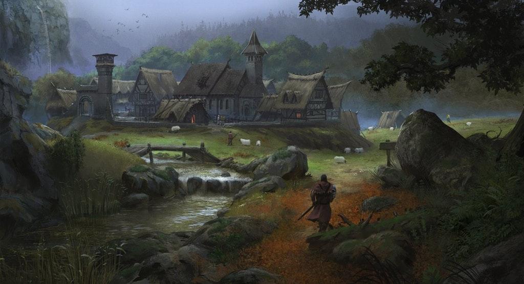 Village near Courtenay