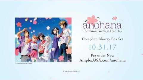 Anohana - The Flower We Saw That Day - TV Series English Dub Trailer