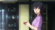 Nanami with a bowl in Episode 1