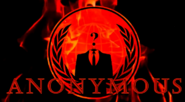 Anonymous logo on fire
