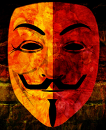 Anonymous Orange & Red Mask