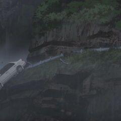 The Ayanos' car plunges off the mountain. There were no survivors.
