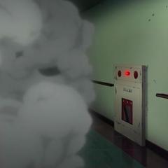 The elevator falls