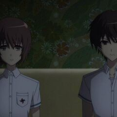 Kouichi and Yuuya in their room at the inn.