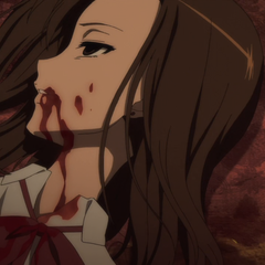 Kyouko lies bloody and dead at the inn.