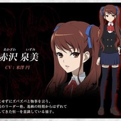 Izumi's character design in the anime