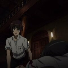 Kouichi's shocked face upon finding his wounded classmate.
