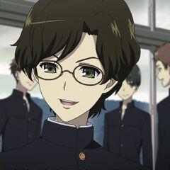Yukito and Sayuri talk in the first episode.