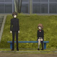 Kouichi and Yukari have fun not doing PE.