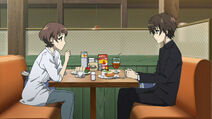Sanae and Kouichi talk