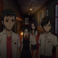 Kenzou and Yukito confront Mei and Kouichi.