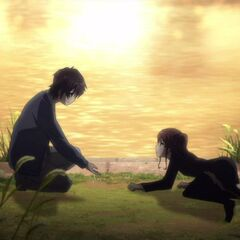 Kouichi offer help to Izumi