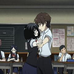 Mei and Kouichi dancing