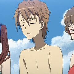 Izumi, Naoya, and Takako lose the catching contest.