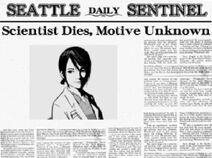 Newspaper about Sayoko's murder