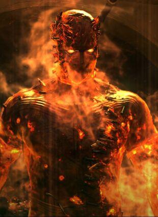 Brennender Mann