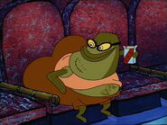 Bubble Bass sitting