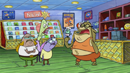 Bubble Bass at the Comic Shop
