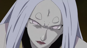 Kaguya frowning