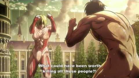 Shingeki no Kyojin - Eren Vs. Annie (2nd encounter)