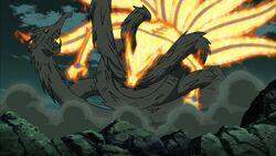 Wood Madara Dragon vs Naruto Nine Tails Mode