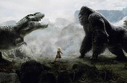 Megaprimatus kong versus Vastatosaurus rex