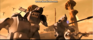 Clones killing Geonosians