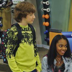Fletcher standing next to Chyna.