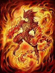 Fire half dragon