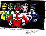 Power Rangers Time Force (team portrait) (HD)
