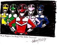 Power Rangers Time Force (team portrait) (HD)