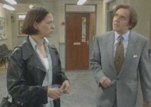 Miss Travis meets Mr Slatt for the first time.