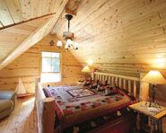Log Cabin Bedroom
