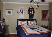 Chicago Bears-Themed Bedroom