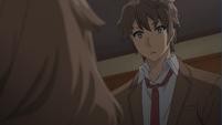 Sakuta shocked