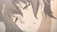 Sakuta crying