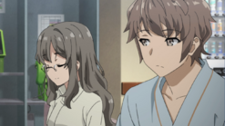 Rio and Sakuta at the hospital