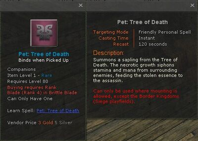 Pet tree of death
