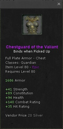 Chestguard of the valiant