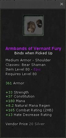 Armbands of vernant fury