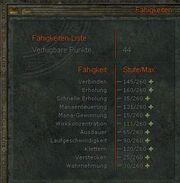 Fähigkeiten-Liste