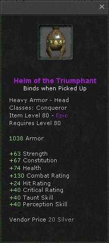 Helm of the triumphant
