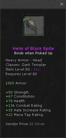 Helm of black spite