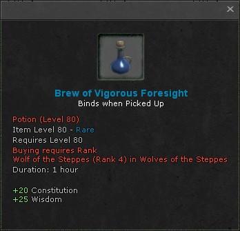Brew of vigorous foresight
