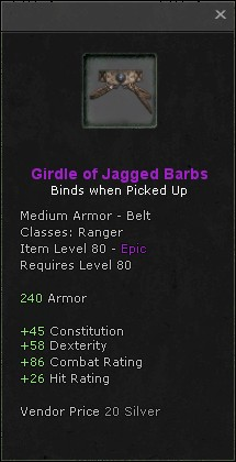 Girdle of jagged barbs