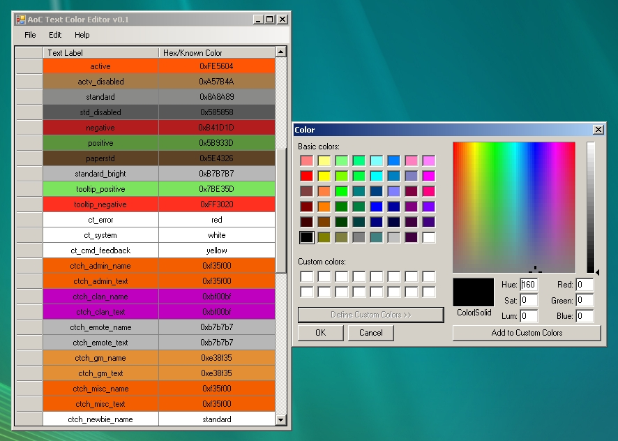 Age Of Conan Text Color Editor Aocwiki Fandom Powered By Wikia