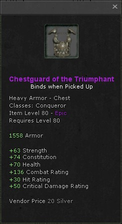 Chestguard of the triumphant