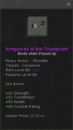 Armguards of the triumphant