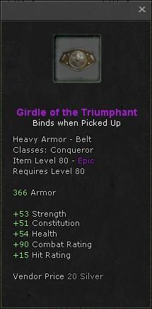 Girdle of the triumphant