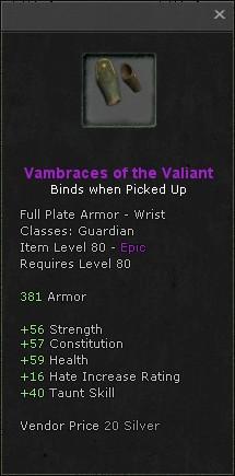 Vambraces of the valiant